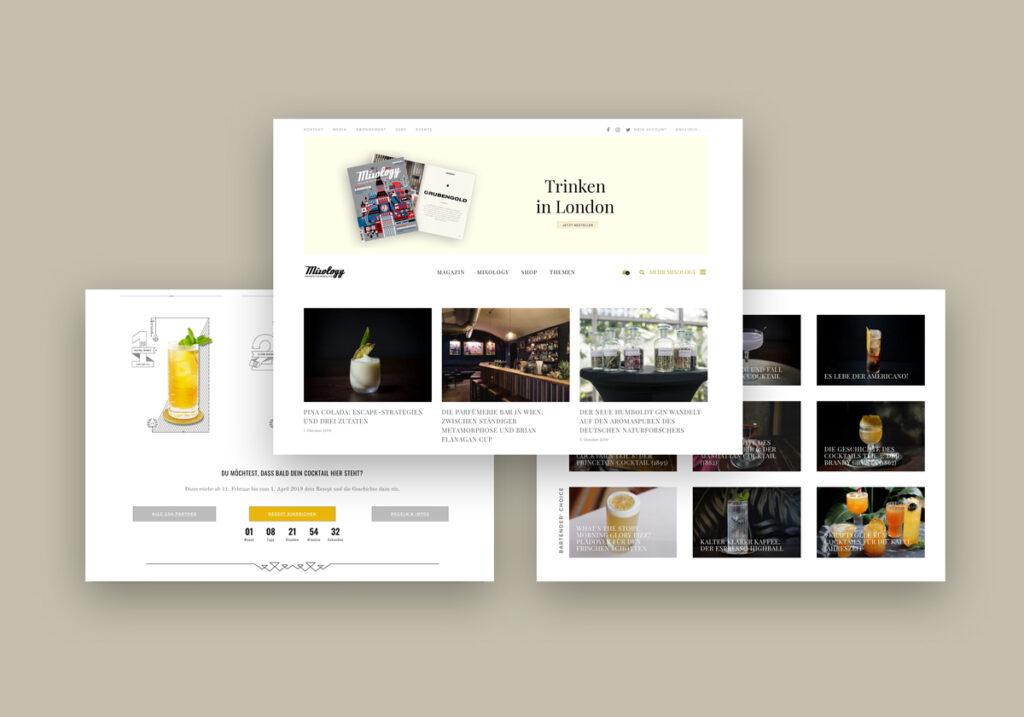 Webdesign Mixology Magazin für Barkultur Online