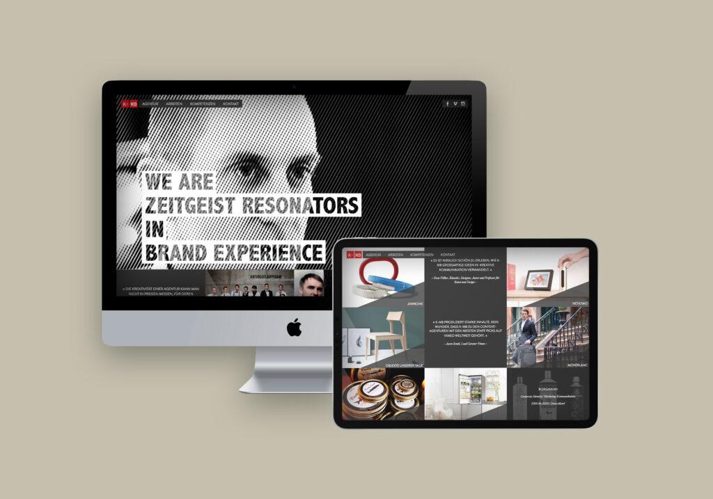 Webdesign K-MB Agentur für Markenkommunikation